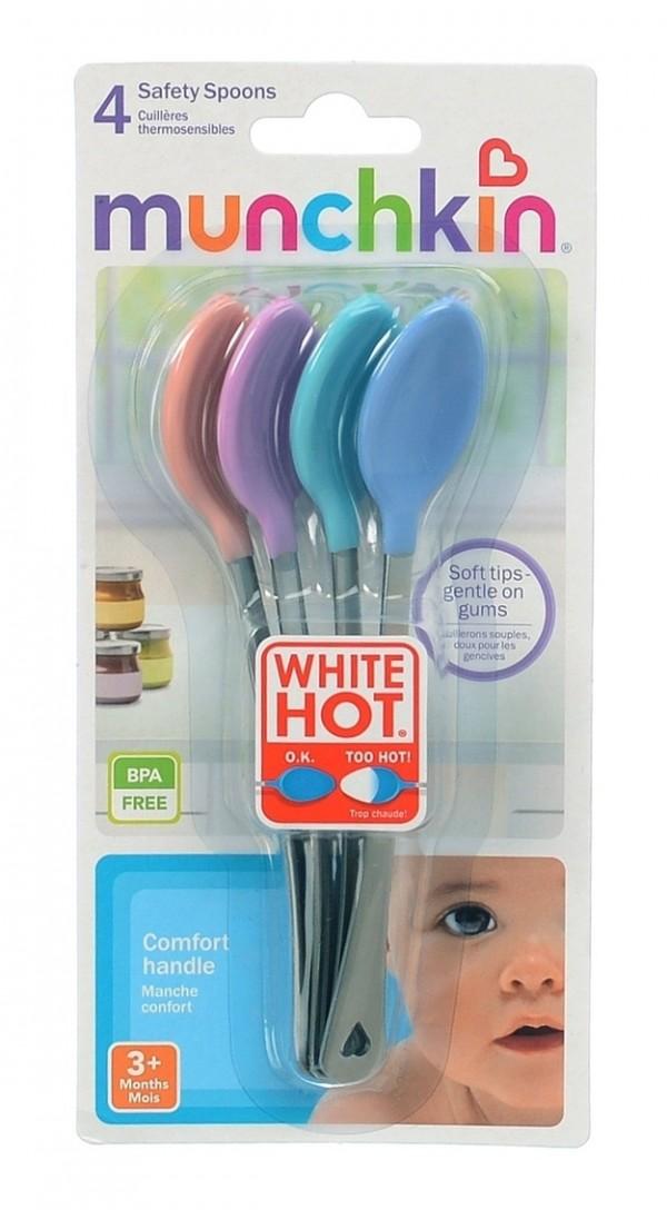 Cucharas que cambian de color -a blanco- si la comida está muy caliente