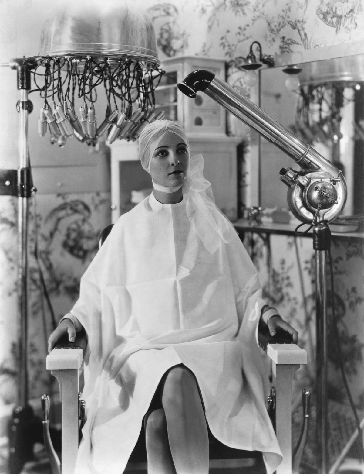 Woman in Beauty Parlor