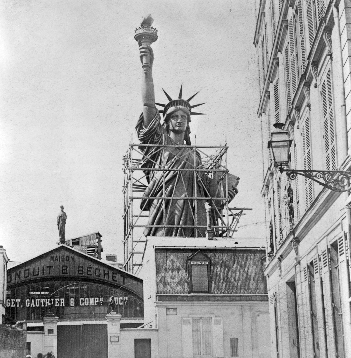 Framework Around Statue of Liberty