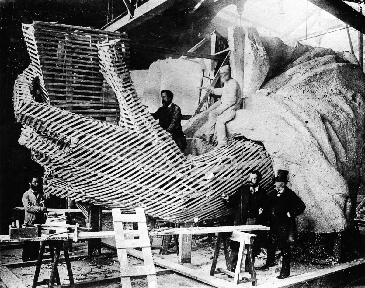 Freiheitsstatue N.Y., Atelier Bartholdi in Paris