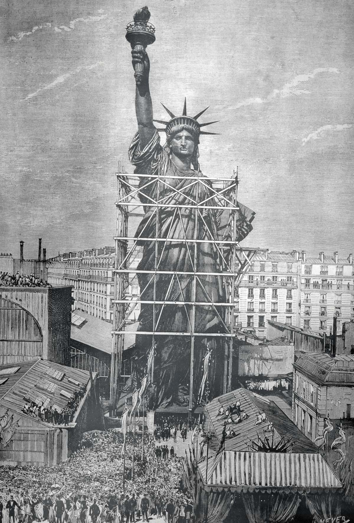Statue of Liberty Being Prepared for Shipment