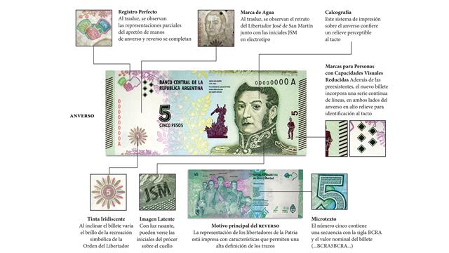 Billete 5 pesos