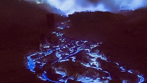 Volcan Lava Azul 2