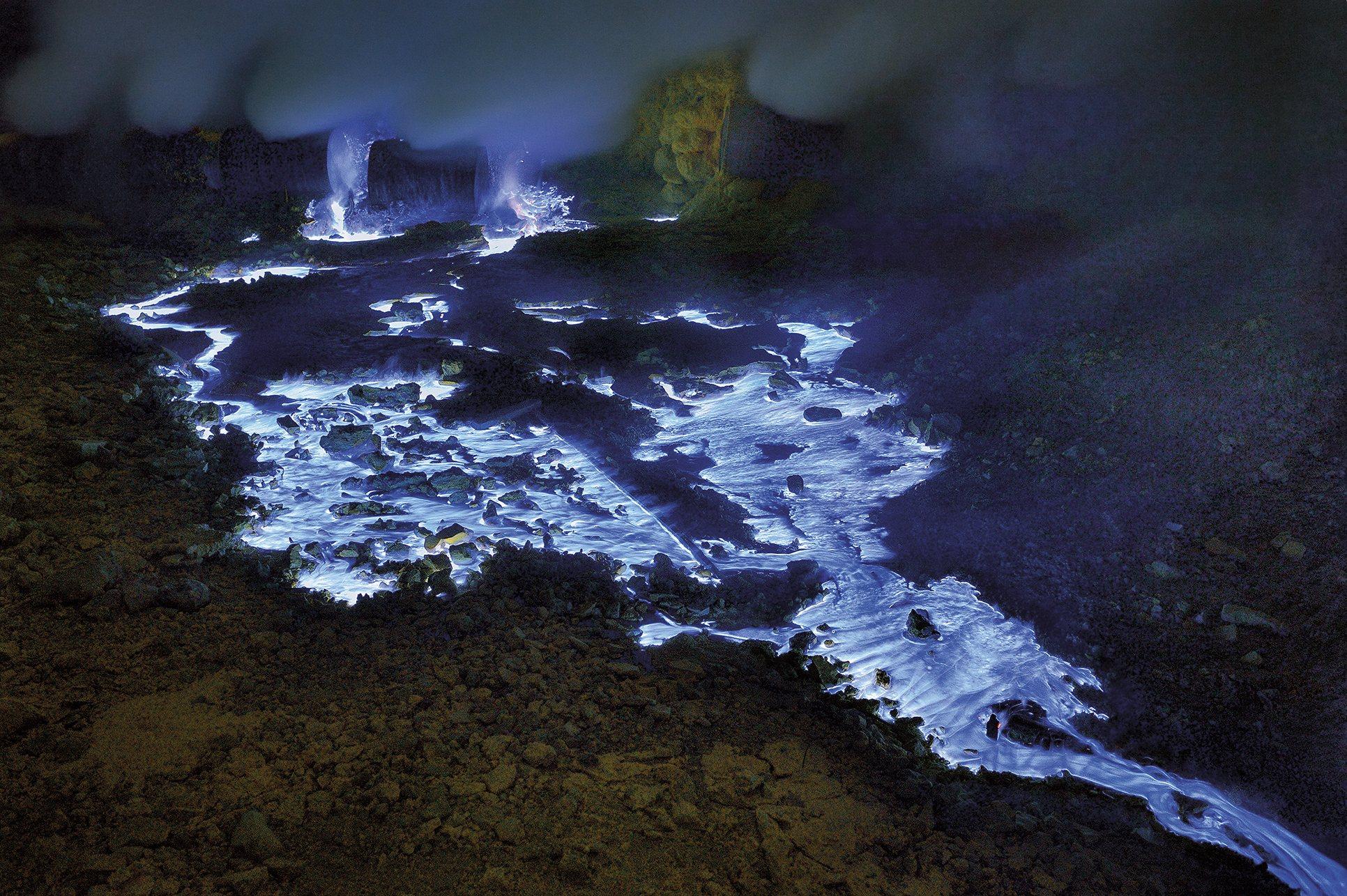 Volcan Lava Azul 5