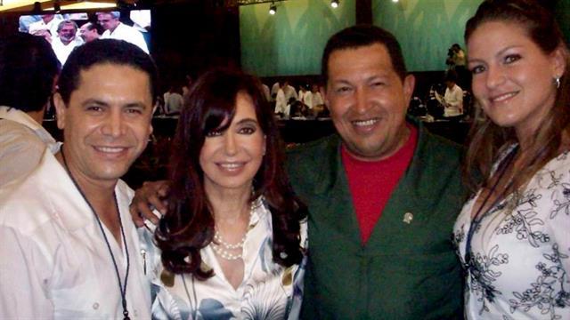 En Febrero 2010, en Cancún junto a Cristina Kirchner y Hugo Chávez.