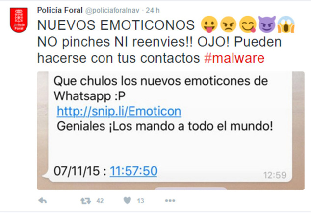 falsos emoticones