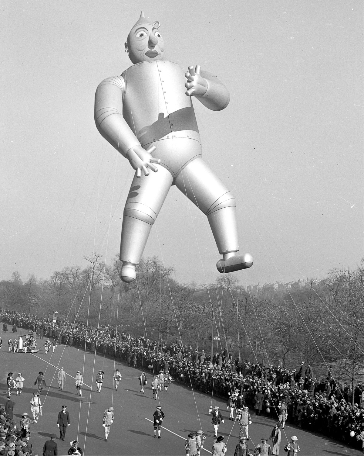 The Tin Man flies high in the Macy's Thanksgiving Day parade