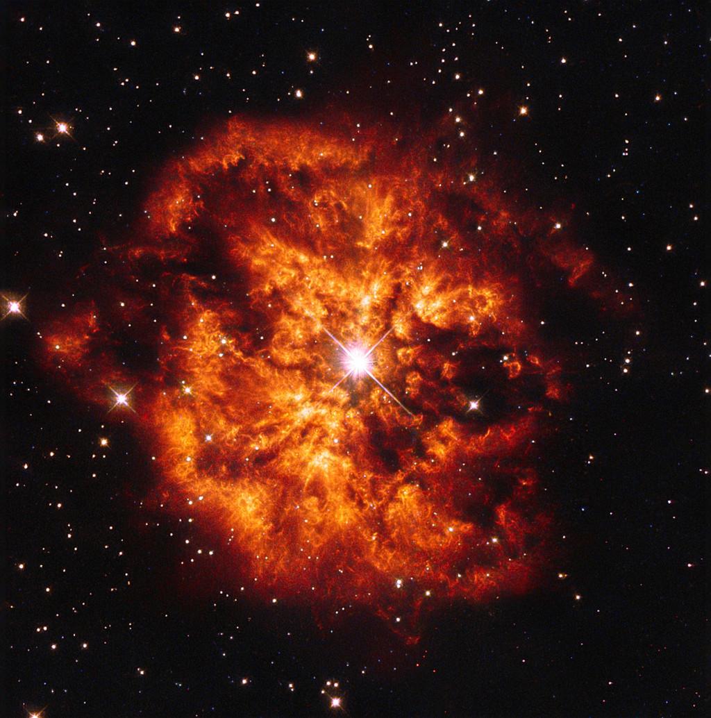 Hen 2-427, o WR 124, es una estrella Wolf-Rayet, la más caliente