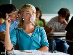 chicle en clase