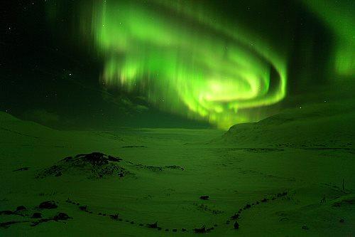 aurora boreal suecia