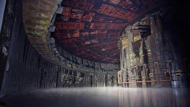 Fábrica de cohetes abandonada. Rusia