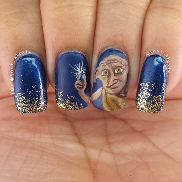 Harry Potter nairart uñas (13)