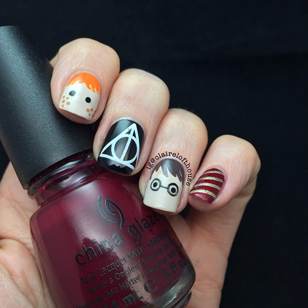 Harry Potter nairart uñas (2)