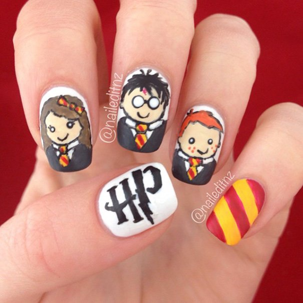Harry Potter nairart uñas (8)
