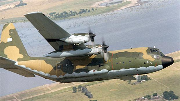 Avión Hércules C-130. Crédito: Defensa del Sur