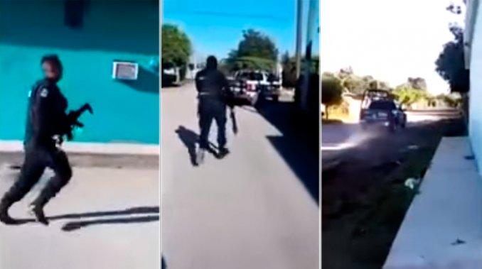 huida de policias