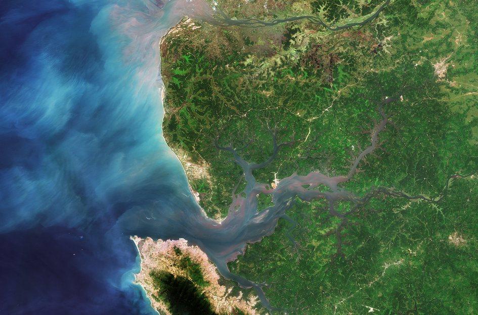 El estuario del rio Sierra Leona