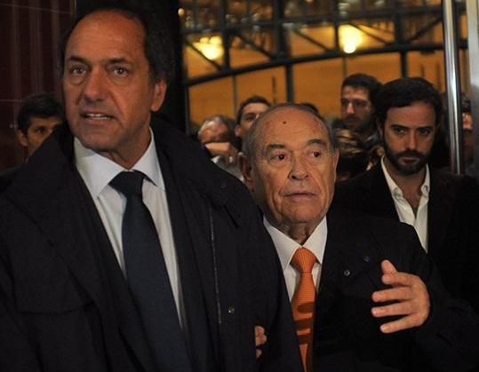 Daniel Scioli, junto al empresario hotelero y de medios, Aldrey Iglesias