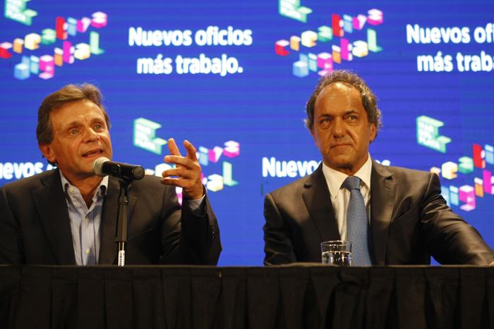 Daniel Scioli junto al ex intendente de Mar del Plata, Gustavo Pulti
