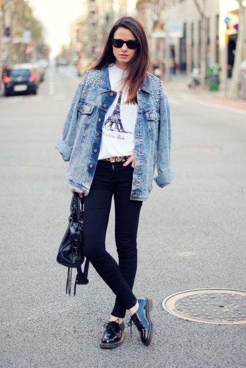 campera jean moda