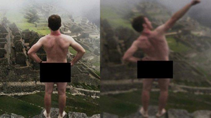 desnudos en machu pichu