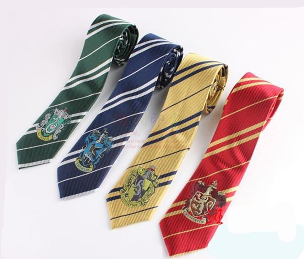 Durable-corbata-Harry-Potter-corbata-Tie-Gryffindor-Tie-Slytherin-Ravenclaw-traje-accesorio-lazo-con-insignia-Cosplay