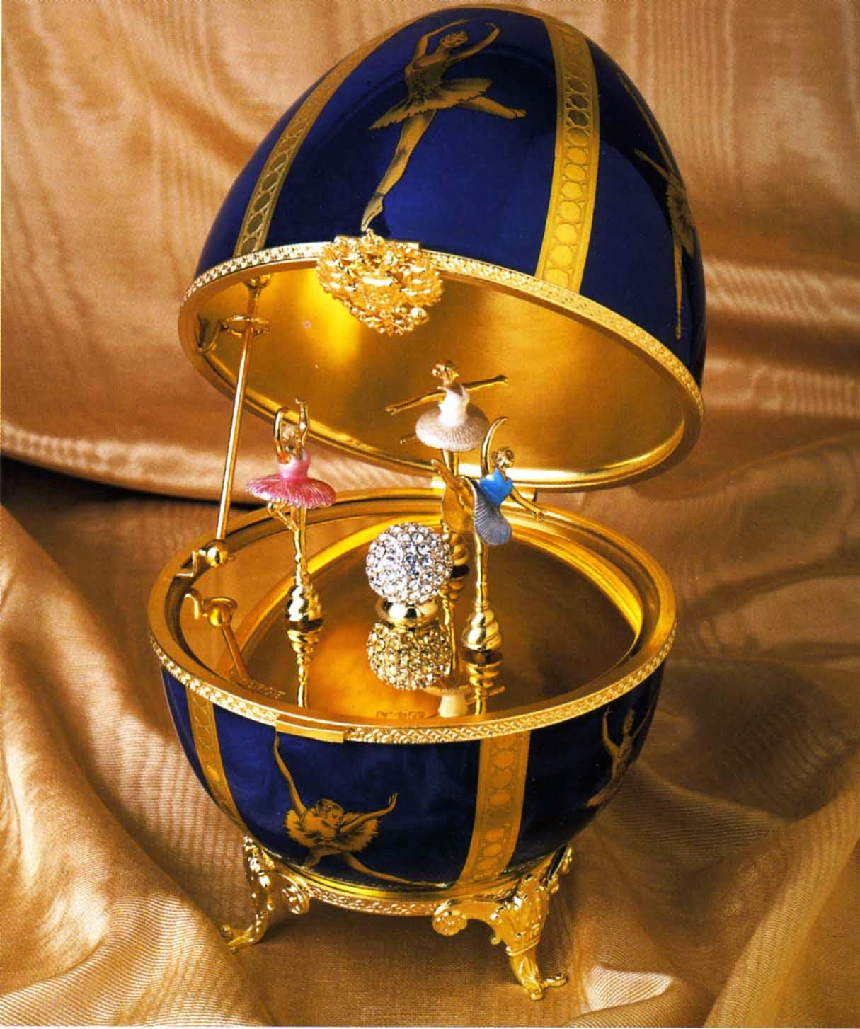 Easter Faberge ballerina egg
