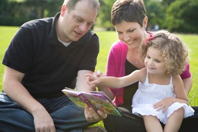 Heather, su hija Brianna y su marido