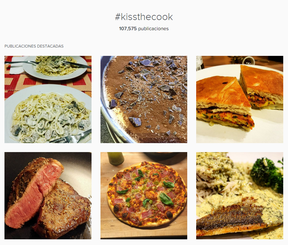 kiss the cook instagram