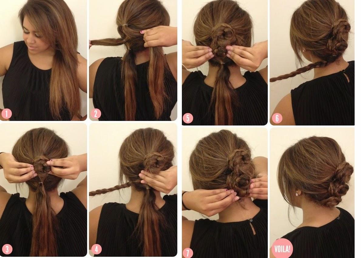 Peinados recogidos para hacer paso a paso nexofin - Como hacer peinado para boda ...
