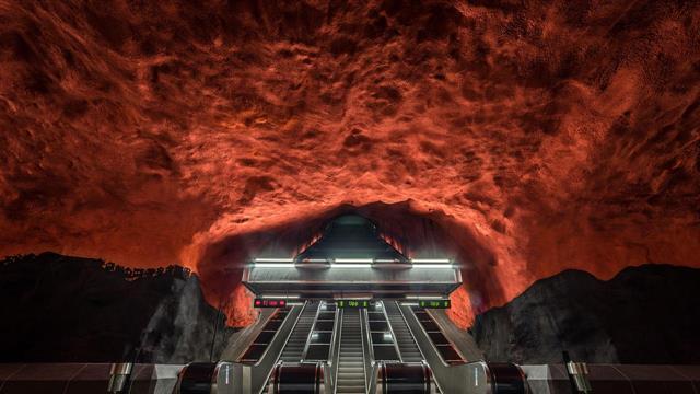 Estación del metro de Solna Centrum, Estocolmo (Suecia)