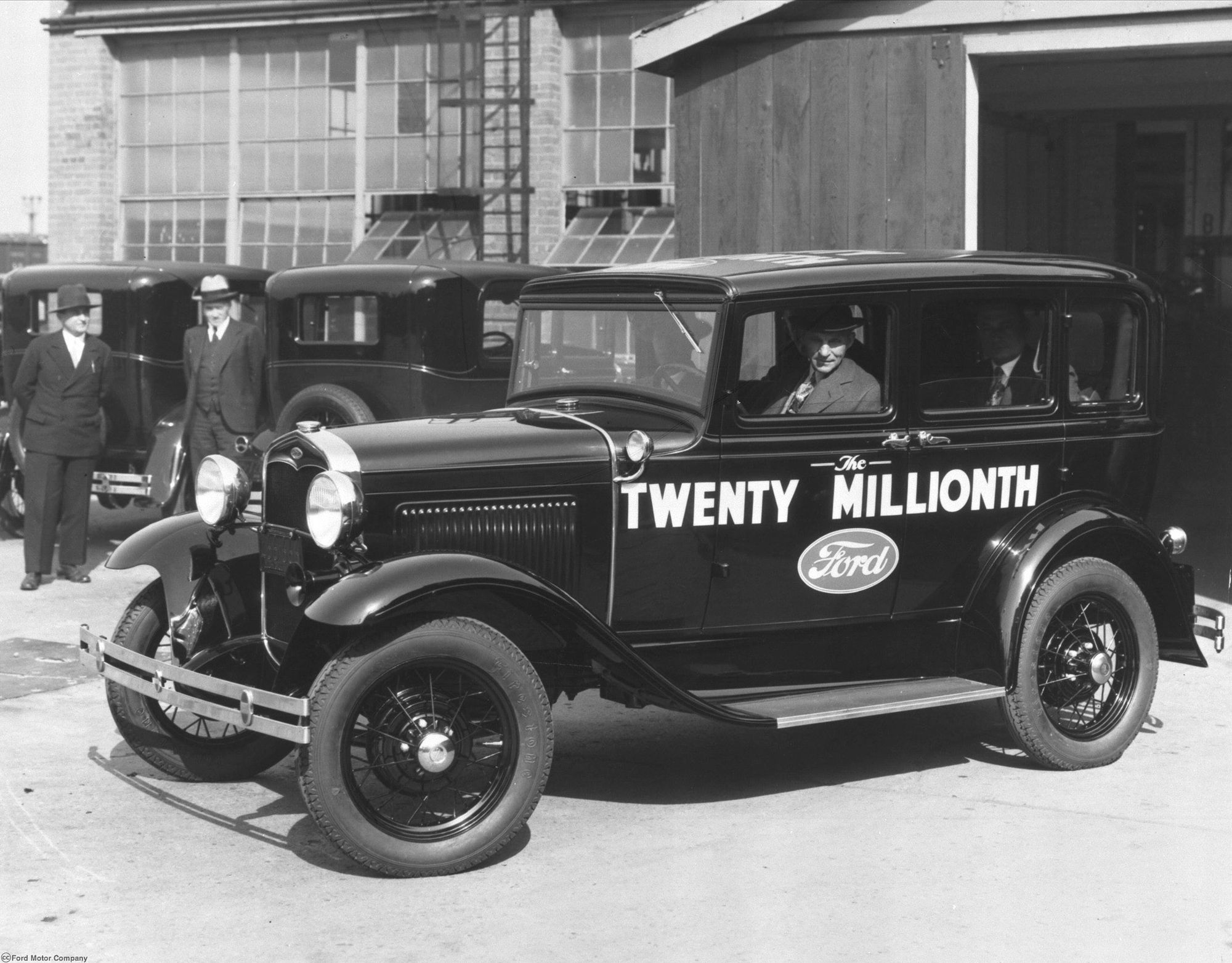 Henry Ford Drives The 20 Millionth Model A