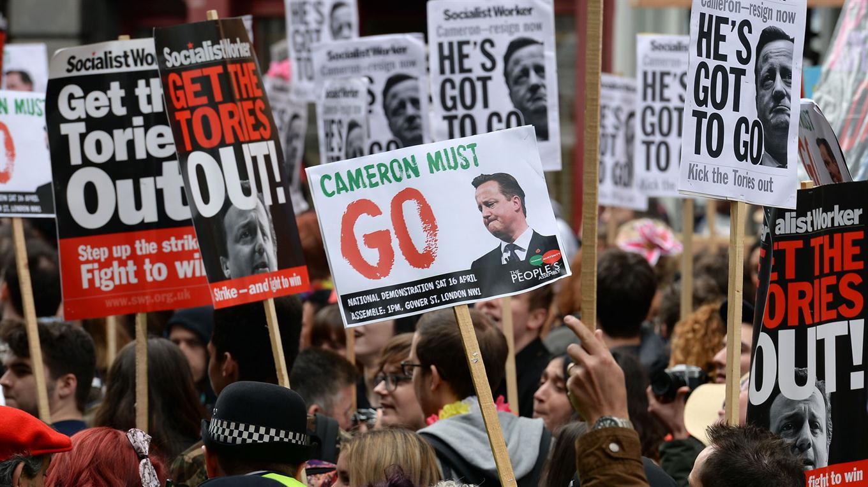 Cameron protestas