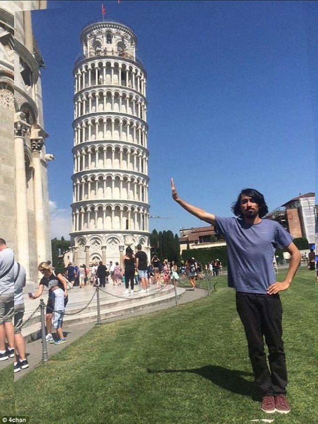 hombre torre pisa