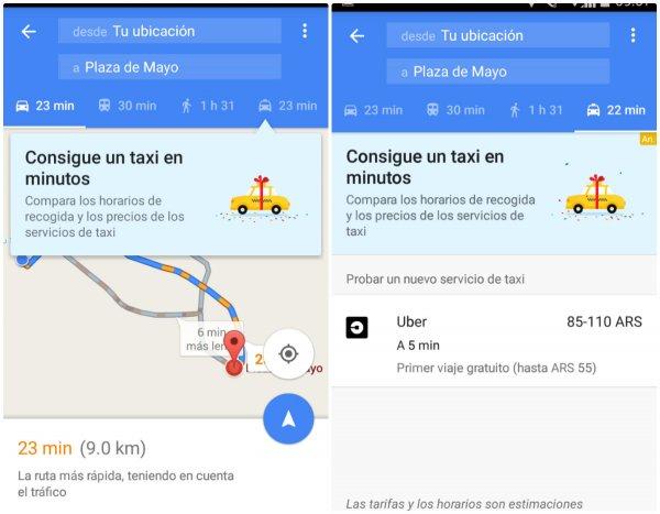 uber google map