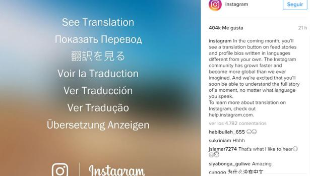 instagram traductor
