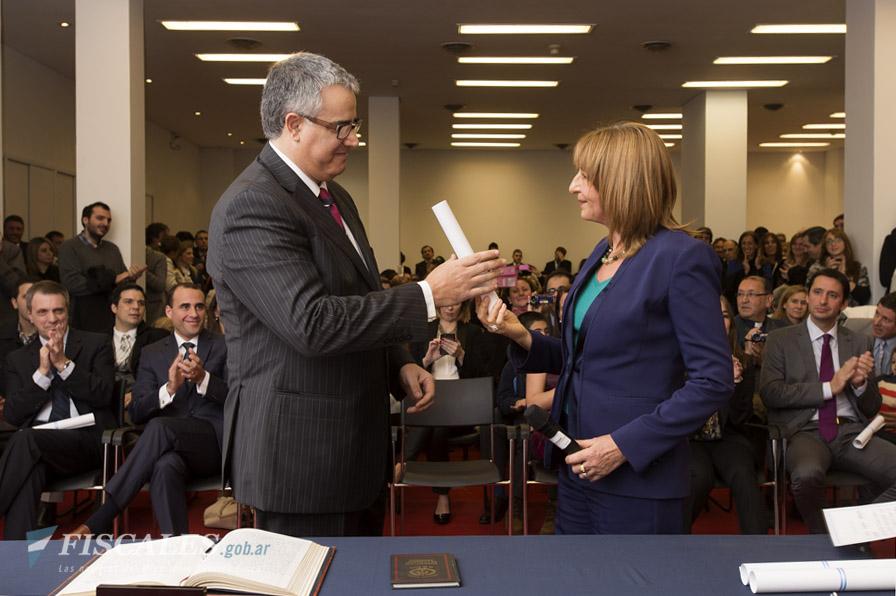 Carlos Alberto Vasser y la procuradora Alejandra Gils Carbó
