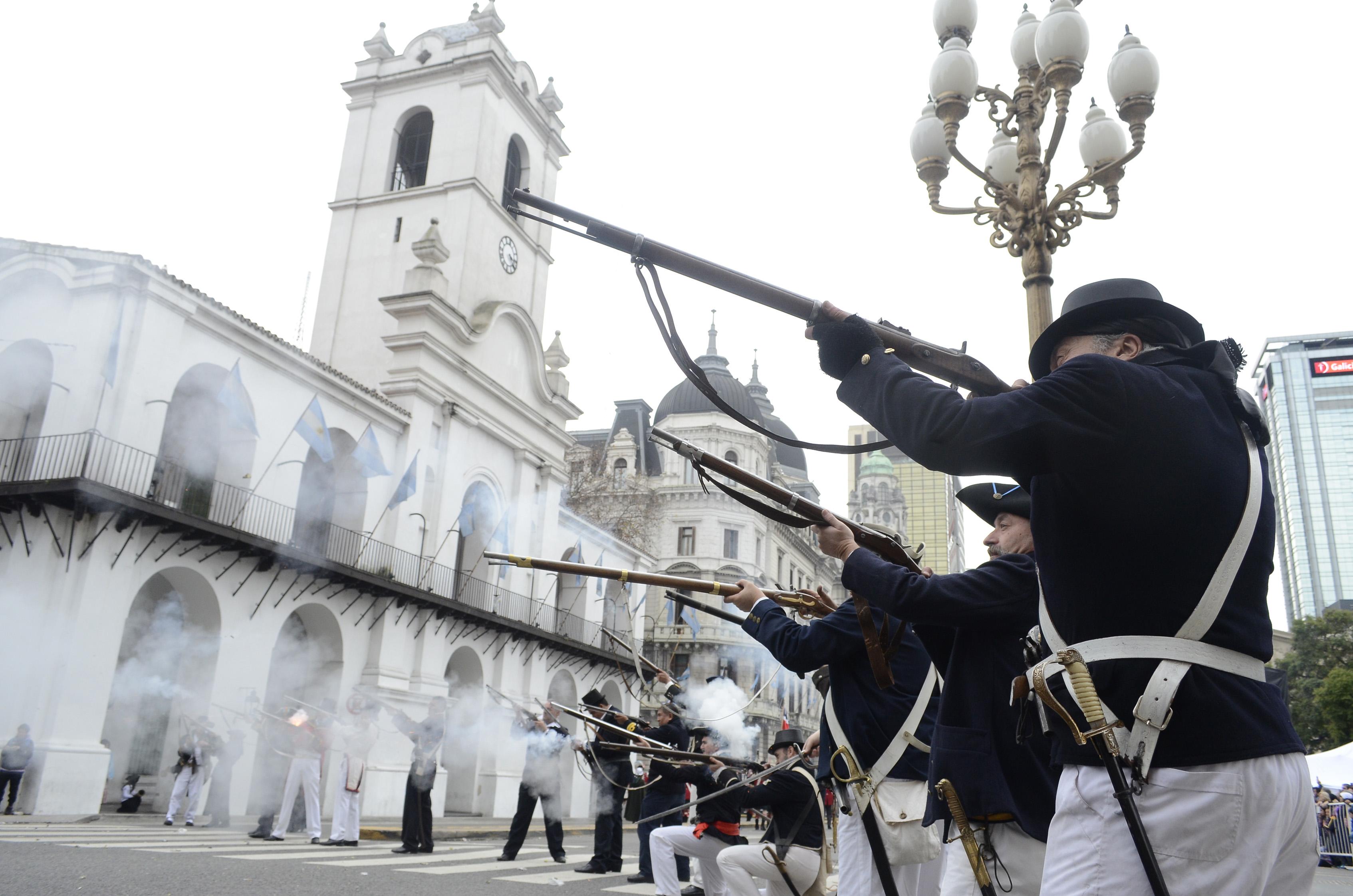 DYN39, BUENOS AIRES, 08/07/2016,RECREACION DE LAS INVASIONES INGLESAS,  EN EL FESTEJO DEL BICENTENARIO. FOTO:DYN/JAVIER BRUSCO