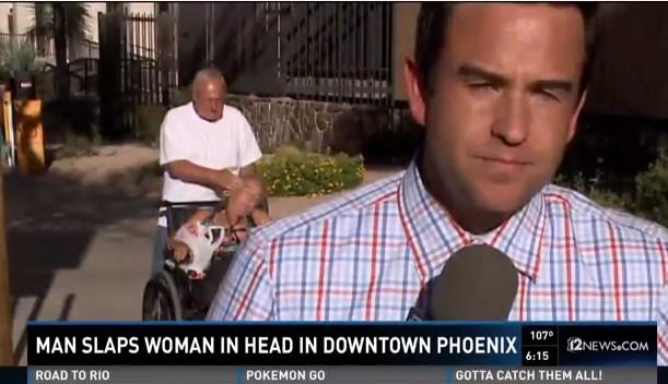 golpe silla de ruedas