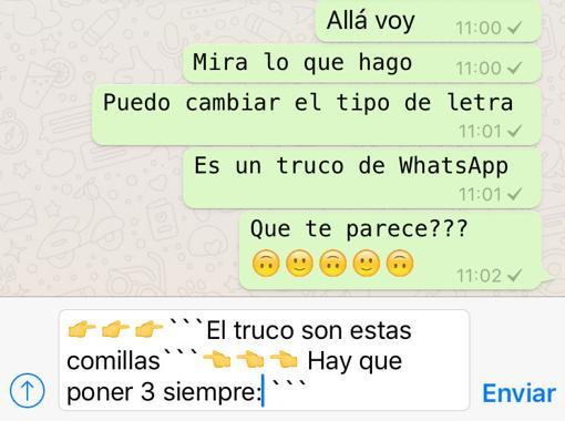 letra whatsapp