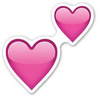 corazones rosas