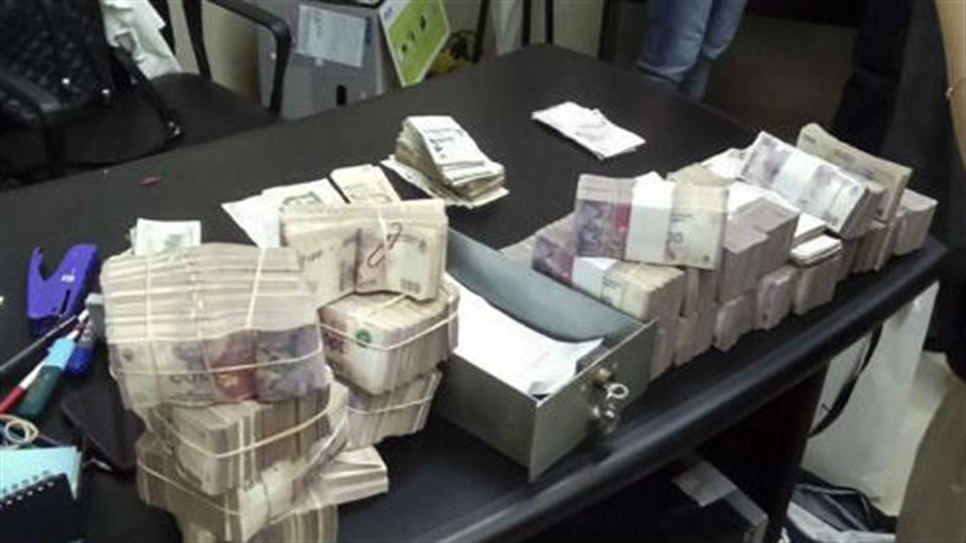 Los resultados de uno de los allanamientos a la financiera de Corrientes.