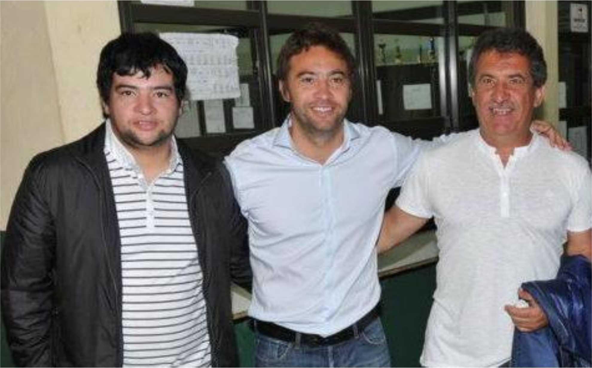 Damián, Mauro y Sergio Urribarri