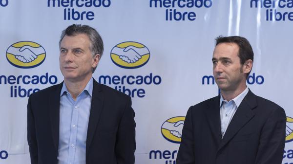 El presidente Macri con Marcos Galperín, CEO de Mercado Libre.