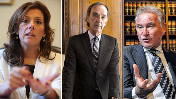 Mónica Cunarro, Marcelo Molina y Alejandro Cantaro