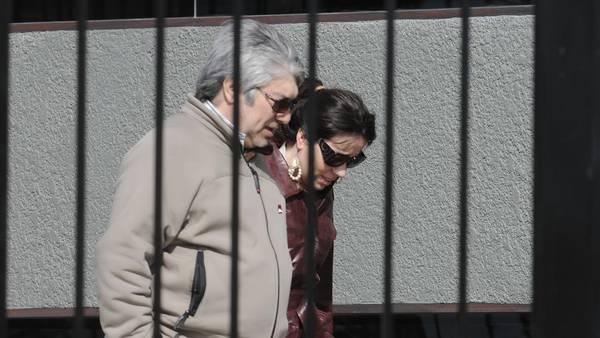 Lázaro Báez y Romina Mercado en el Mausoleo de Néstor Kirchner.