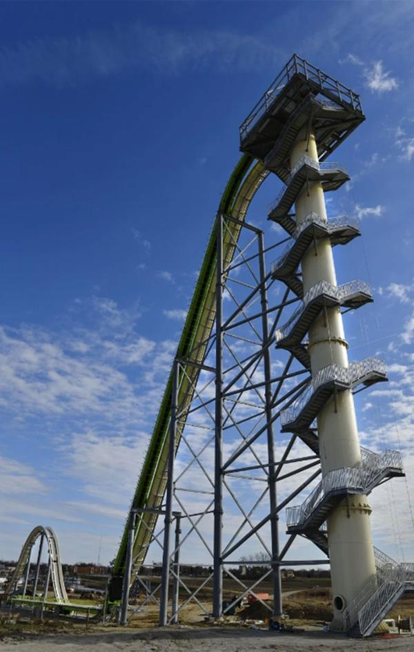 La torre Verruckt, el tobogán de agua más alto del mundo