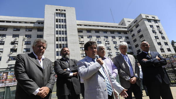 Los fiscales Stornelli, Campagnolli, Marijuan, Sáenz y Rívolo