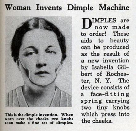 Este inquietante dispositivo fue diseñado para las mujeres que deseaban lucir unos encantadores hoyuelos en las mejillas.