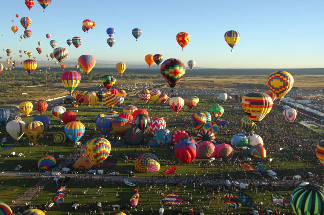Beautiful-View-Of-Albuquerque-Balloon-Festival